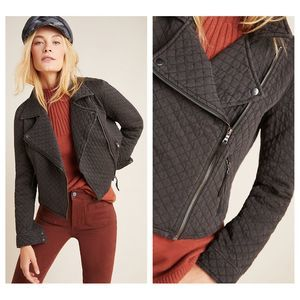 Anthropologie Marrakech Quilted Moto Jacket Large